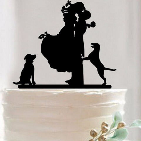 Dog Bride & Groom Wedding Cake Topper