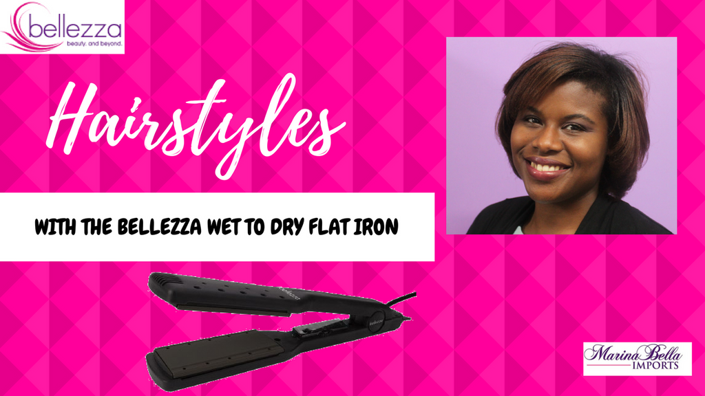 Fun Hairstyles with the Bellezza Wet to Dry Flat Iron