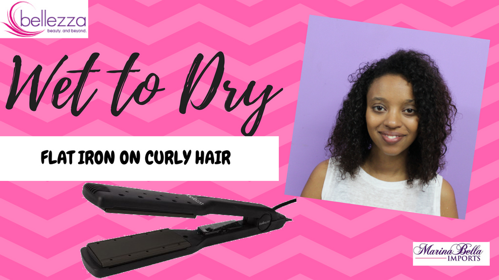 How to Straighten Curly Hair with the Bellezza Flat Iron