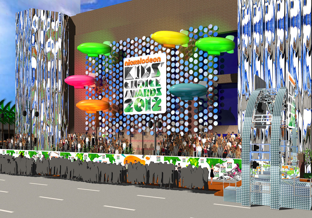 check out the 2012 nickelodeon awards-  they used our 5 mil mirrorsheeting on their building.