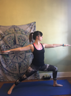 how to do warrior 2 yoga pose Virabhadrasana II