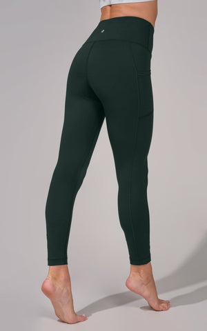 Wonderflex Elastic Free High Waist Side Pocket 7/8 Ankle Legging