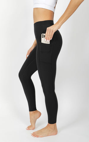 Power Flex Elastic Free High Waist 7/8 Ankle Legging With Side Pocket