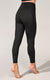 Embossed Animal Print Elastic Free Waistband  Super High Waist 7/8 Ankle Legging With Side Panel