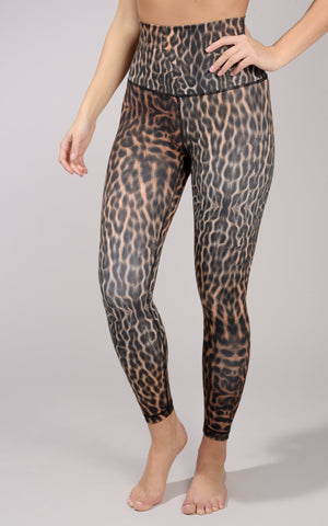 """Yogalicious"" Brand ANIMAL PRINT 7/8 ANKLE LEGGING - Womens Pants - 90 Degree by Reflex"