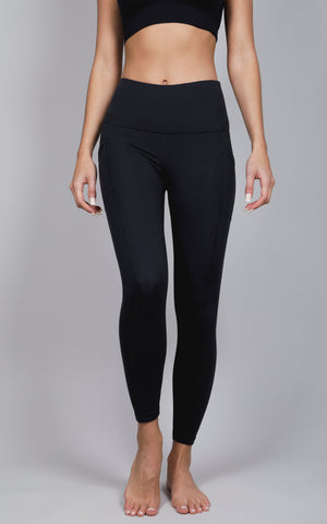 """Lux"" High Waist 7/8 Ankle Legging with Side Pockets"