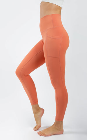 Nude Tech Elastic Free High Waist Side Pocket 7/8 Ankle Legging