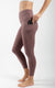 Nude Tech High Waist Side Pocket 7/8 Ankle Legging with Curved Yoke