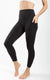 Nude Tech Elastic Free High Waist Side Pocket 7/8 Ankle Legging with Curved Yoke