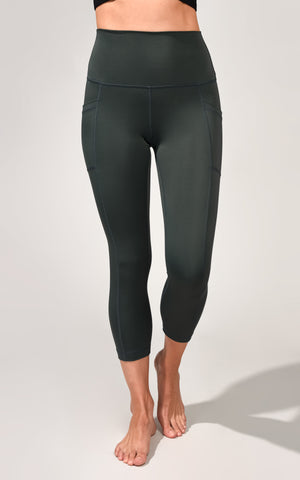 """Ecoflex"" Sustainable Elastic Free High Waist Side Pocket Capri"