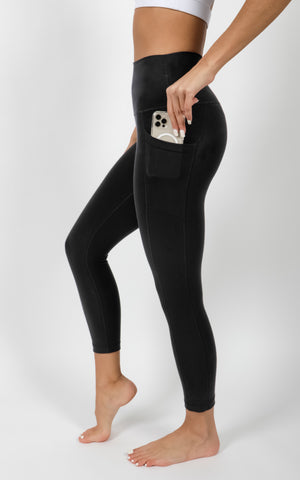 """Cloudlux"" High Waist Elastic Free Side Pocket Capri"