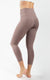"""Squat Proof"" Interlink High Waist Elastic Free V-Back Capri"