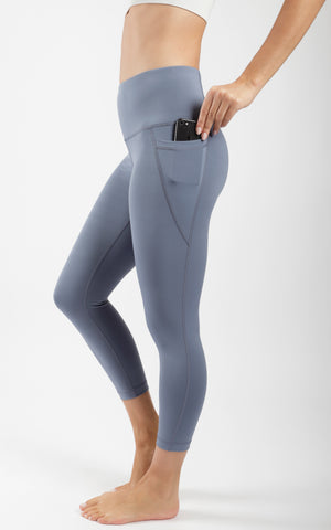 """Squat Proof"" Interlink High Waist Pocket Capri with Contour Seams"