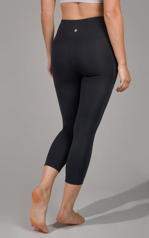 """Lux"" High Waist Side Pocket Capri"