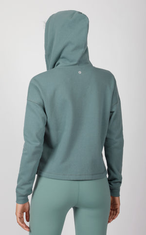Hoodie Jacket with Side Slits