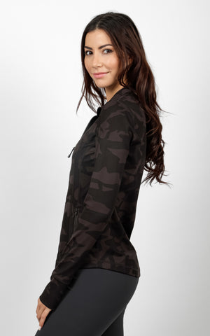 Lux Printed Full Zip Jacket