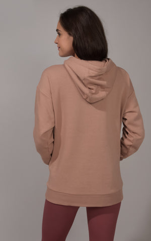 Long Sleeve Brushed Hooded Pullover