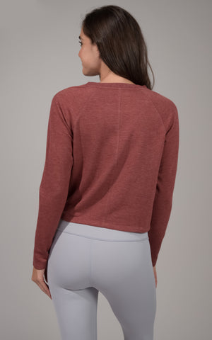 Terry Brushed Hi Low Twist Front Top