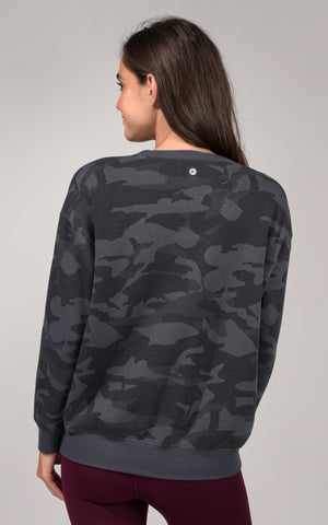 Cozy Fit Camo Crew Neck Sweatshirt