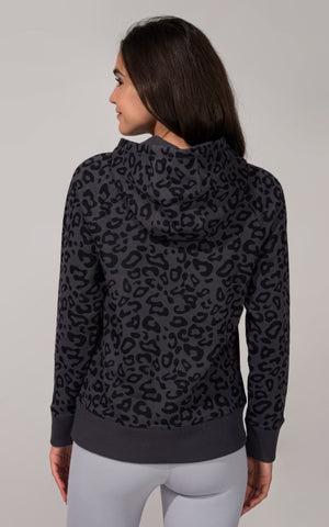Printed Hooded Pullover with Kangaroo Pocket