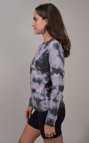 Tie Dye Brushed Long Sleeve Top