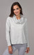 Terry Brushed Long Sleeve Cowl Neck Top