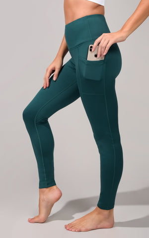 Cold Gear High Waist Fleece Lined Legging with Side Pockets