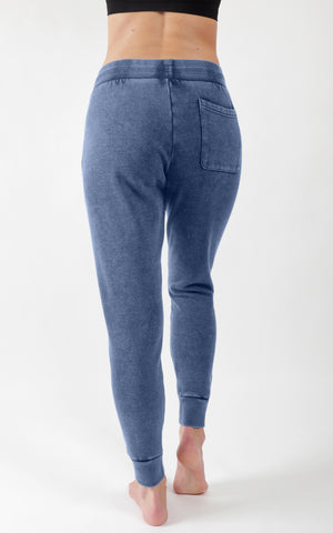 Stone Washed Jogger with Back and Side Pocket