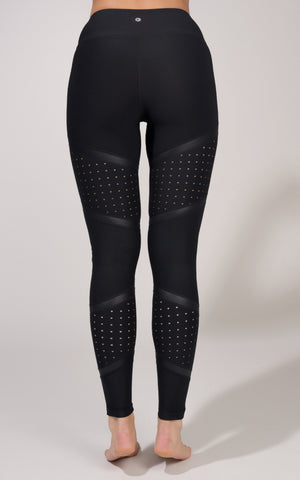 Perforated Cire Mesh Legging