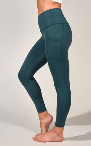 """Squat Proof"" Interlink High Waist 7/8 Ankle Legging with Side Pockets"