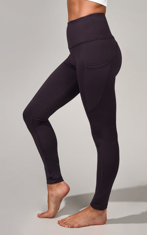 """Squat Proof"" Interlink Legging with Pocket Curved Back Yoke"
