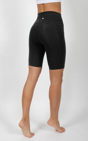 """Cloudlux"" High Waist Elastic Free 9"" Pocket Biker Short"