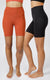 "2 Pack Lux High Waist Elastic Free 7"" Short"