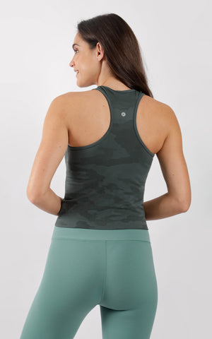 Camo Seamless Racerback Crop Top