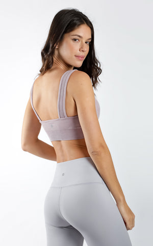 Square Neck Stonewashed Seamless Bra