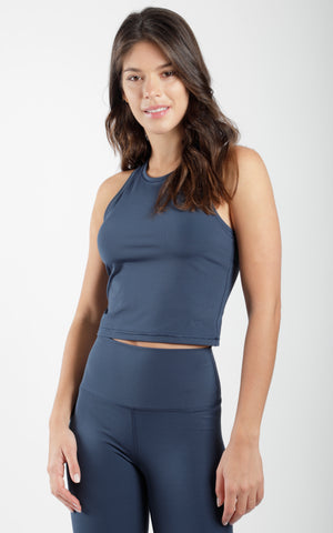 Ecolink Sustainable Interlink Cropped Tank Top