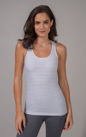 Solid and Stripe Racerback Tank Top (2 Pack)
