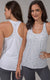 2 Pack Solid And Space Dyed Racer Back Tank Top