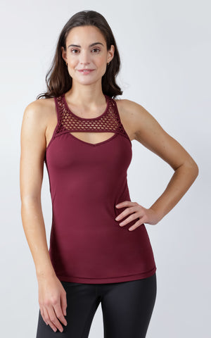Mesh Cut Out Tank Top