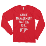 Cable Managment - Long Sleeve Shirt
