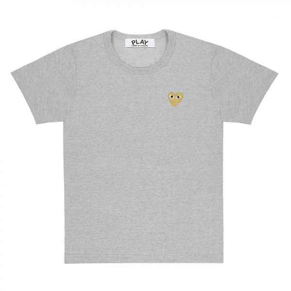 Gold Heart T-Shirt (Top Grey)