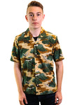 Gitman Vintage Short Sleeve Fuji Camp Shirt (Green)