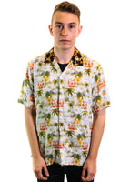 Gitman Vintage Short Sleeve Rayon Camp Shirt (Leopard Collar)