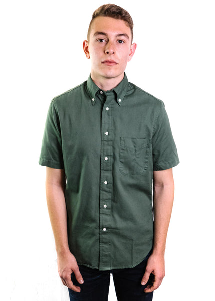 Gitman Vintage Short Sleeve Button Down Oxford (Olive)