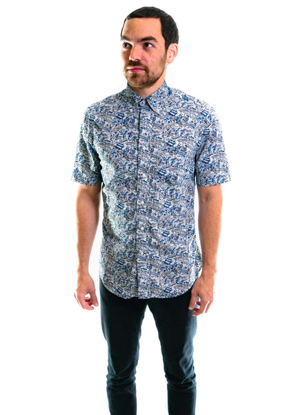 SS Xiangzi's Garden Blues Shirt (Blue)