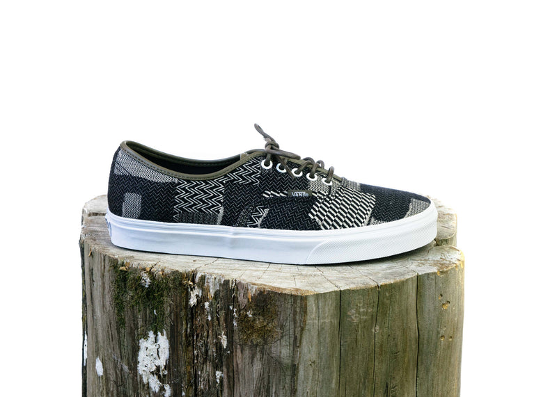 Authentic Denim Patchwork (Navy/True White)
