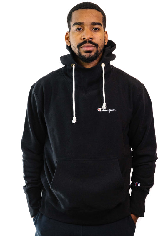 Champion Reverse Weave Deconstructed Hoodie (Black)