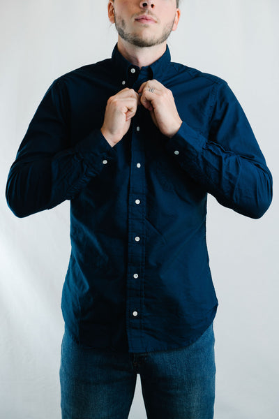 Overdye Oxford Shirt (Navy)