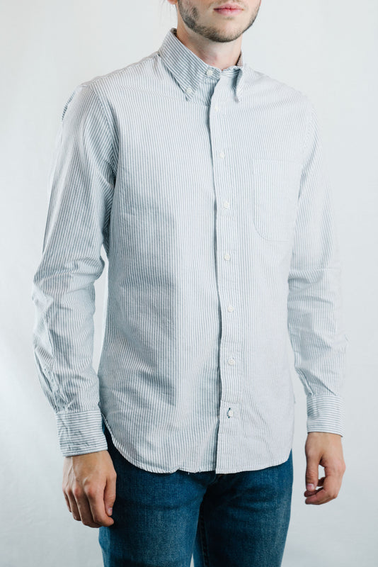 Oxford Shirt (Grey Stripe)