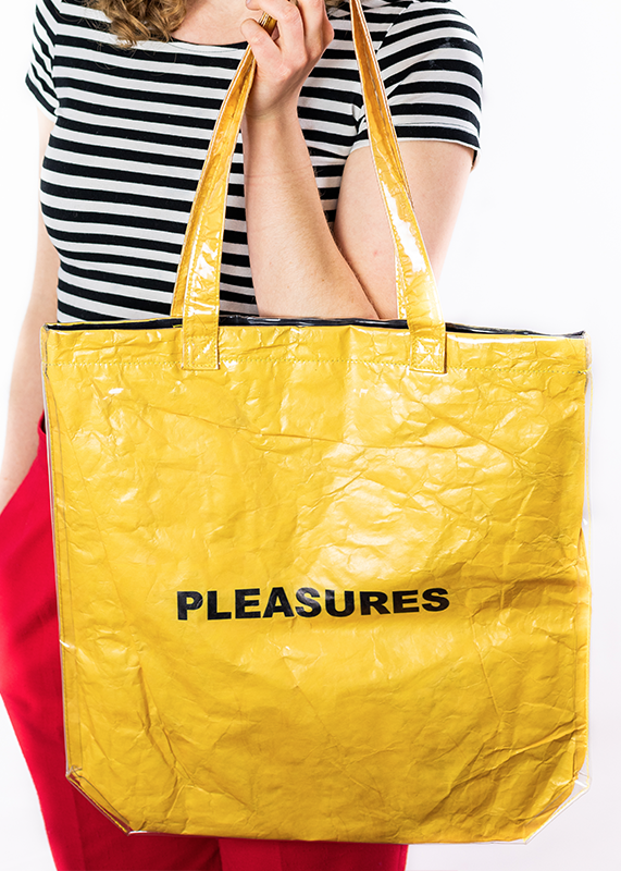 Mama Plastic Tote Bag (Gold)